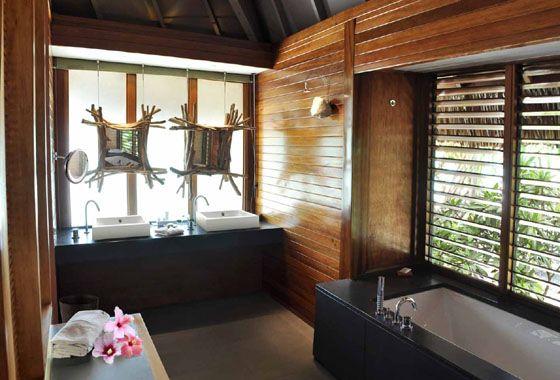Bathroom Of The Hut In Bora Bora Dream Vacations Bora