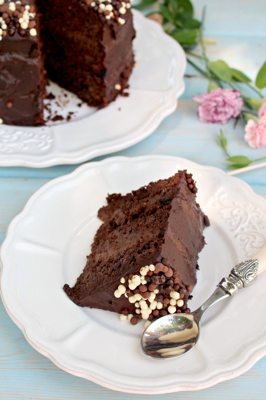 """Healthy Death by Chocolate Cake 