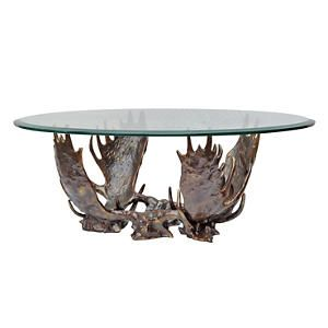 Fighting Moose Antler Coffee Table Luxury Coffee Table Table