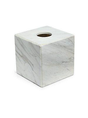 Waterworks Studio Luna White Marble Tissue Cover - No Color - Size No