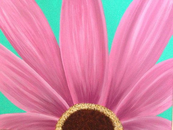Gerber Daisy Painting Daisy Painting Flower By Creationsbyconni