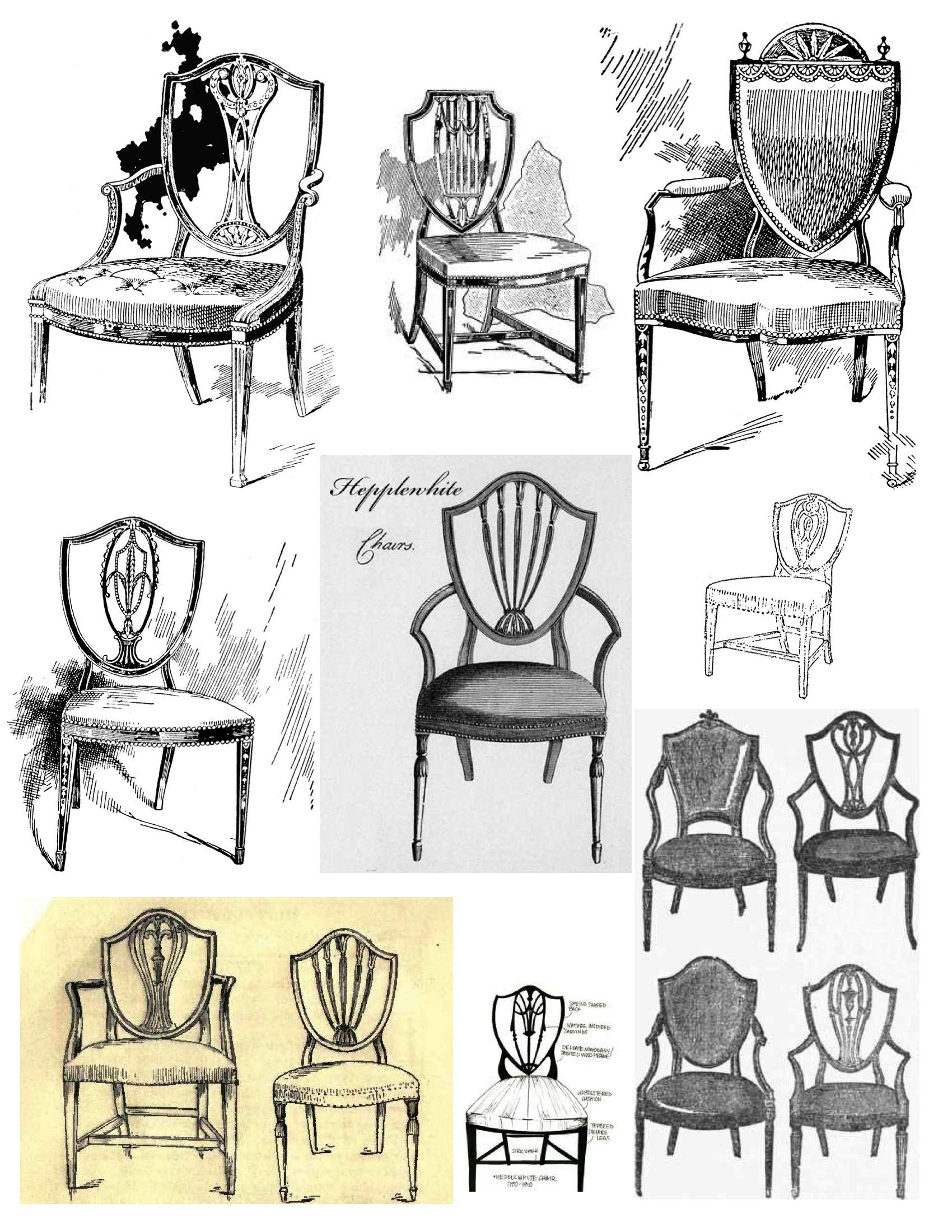 Mystery Of Design The Elegant Hepplewhite Shield Back Chair Classic Furniture Furniture Sketch Furniture Styles
