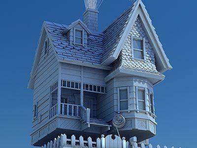 Pixar S Up House 3d Model Maison Victorienne Maison Victorien