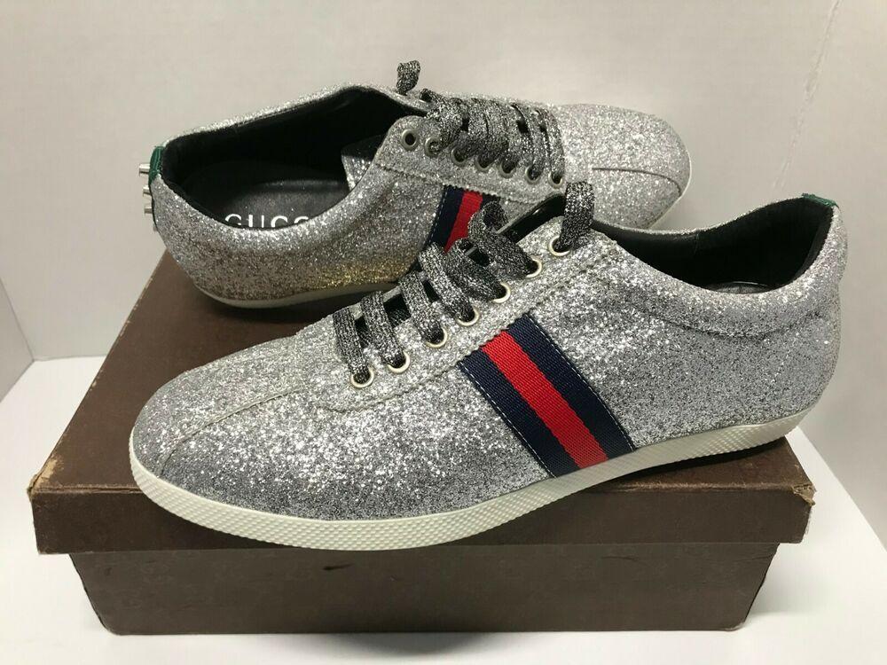 Silver glitter shoes, Gucci men