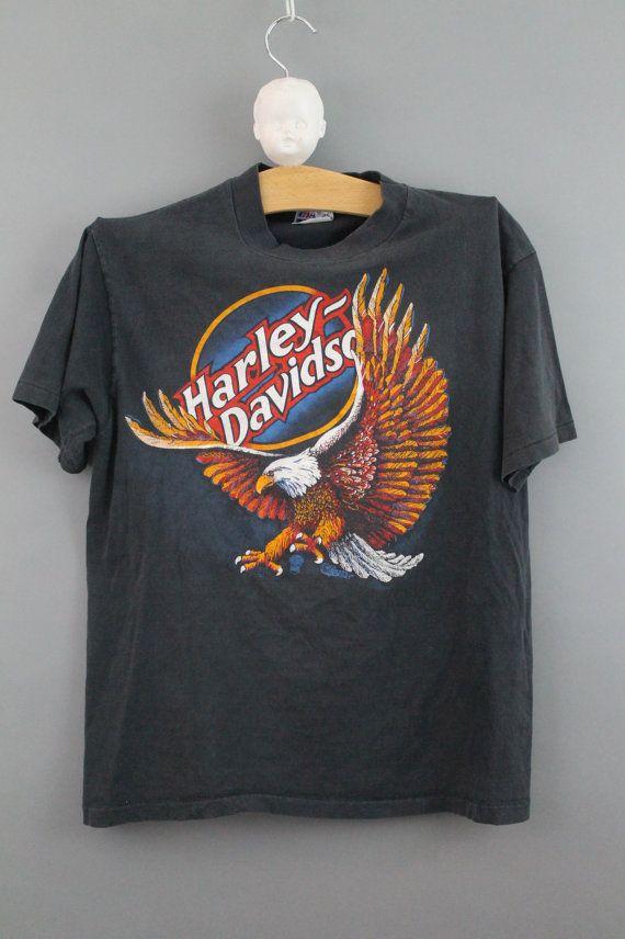 Harley Davidson Vintage Tshirt Faded Worn By