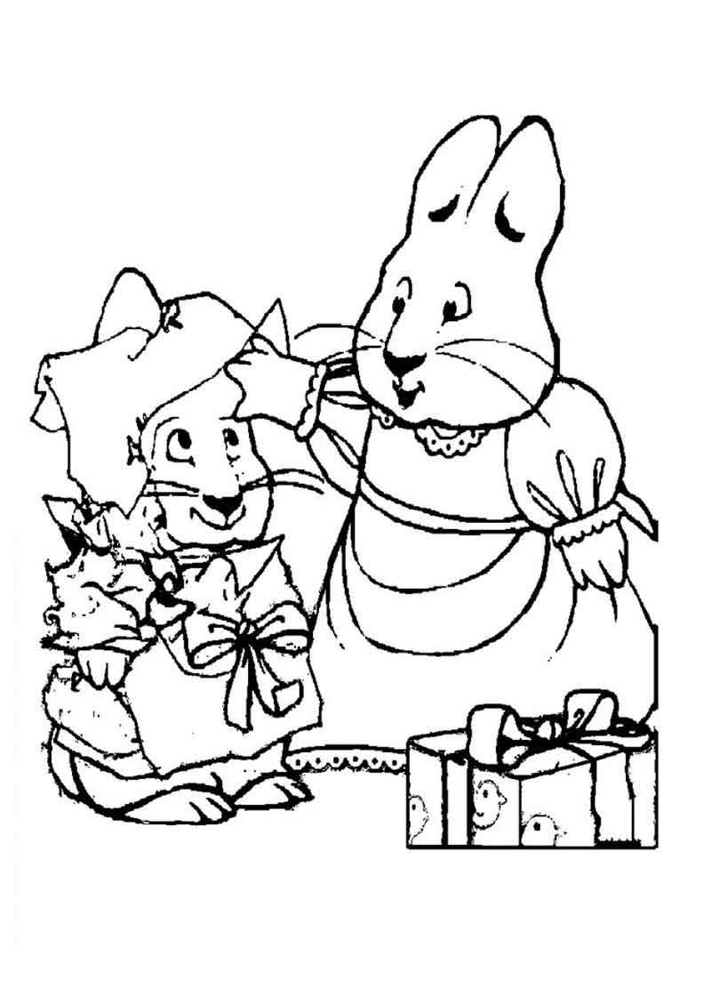 printable max and ruby coloring pages