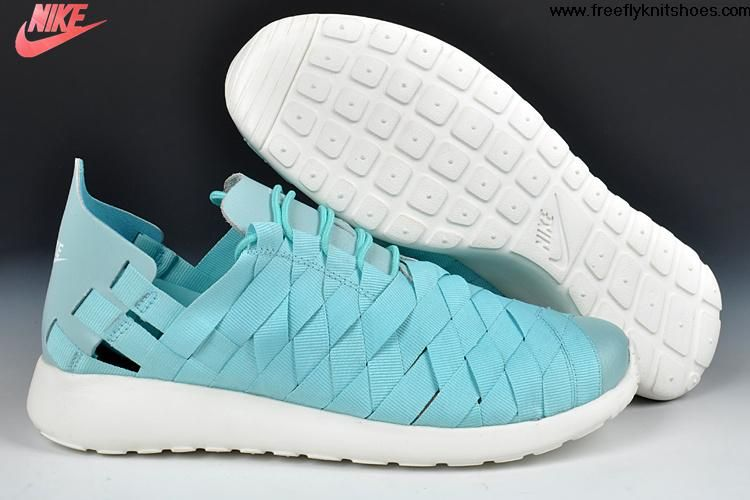 Buy Discount Nike Roshe Run Woven Tropical Twist tiff blue