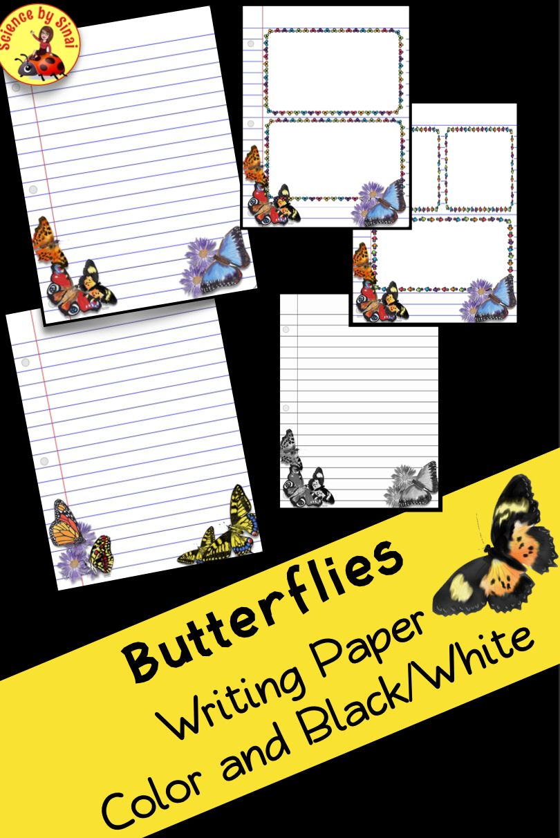 Erfly Themed Writing Paper For All Of Your Creative Lab Reports Activity Stations