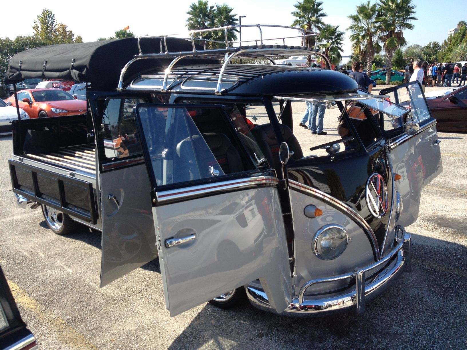 very nice crew cab vw that was at the jacksonville cars and coffee my dream garage. Black Bedroom Furniture Sets. Home Design Ideas
