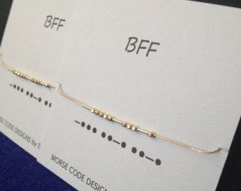 MOEDER / petekinderen Morse Code armbanden door ErinElizabethCarson