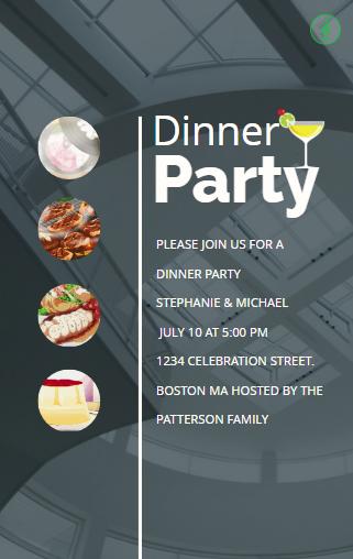 Animated funny dinner party invitation animated greeting cards animated funny dinner party invitation stopboris Gallery