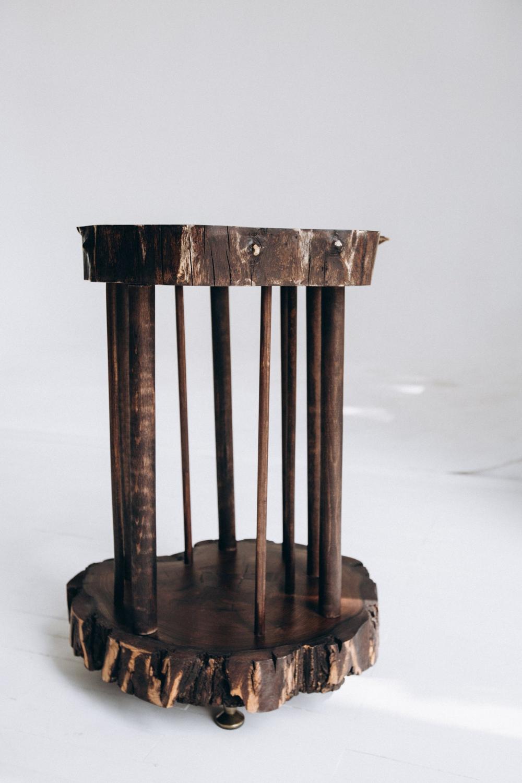 Wood Umbrella Holder Stand Rustic Etsy Mid Century Coffee Table