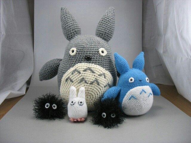 Totoro amigurumi Nazeem would LOVE these!!!   Japanese Kawai style ...