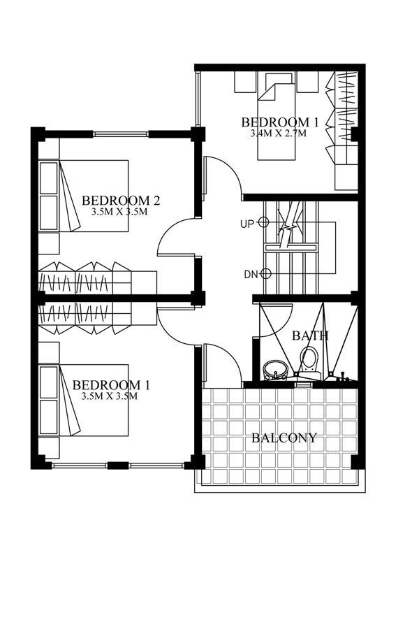 Modern House Designs Series Mhd 2012007 Pinoy Eplans Small Room Design Modern House Design Small House Design