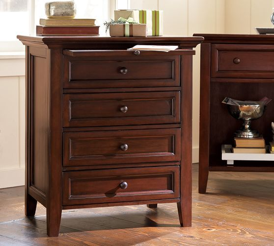 Best Hudson 4 Drawer Bedside Table Mahogany Stain With Images 400 x 300