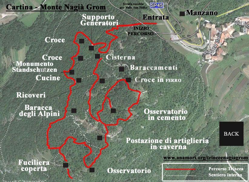 Cartina Virtuale delle Trincee