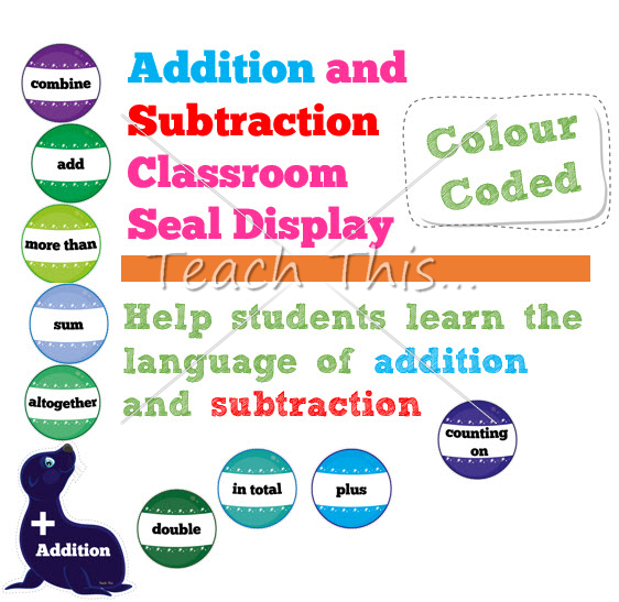 Addition Subtraction Classroom Seal Display | Games & Activities ...