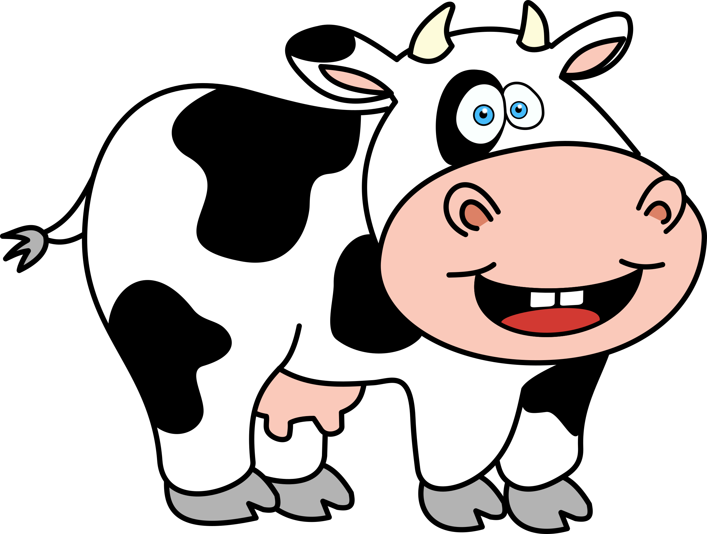 cartoon cow Funnyw icons free and downloads png en 2020