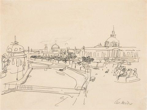 Rom Blick Von Der Terrazza Delle Quadrighe über Das Centro