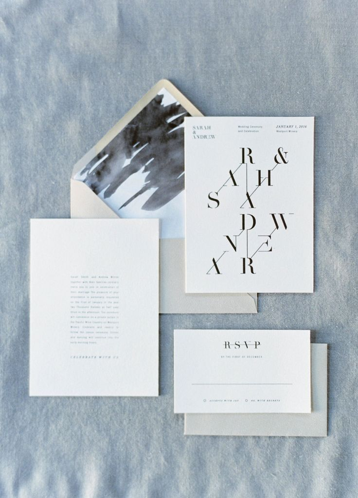 modern wedding invitation design. works very well for brand ...