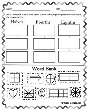 Fractions (Graphic Organizers and Practice Worksheets