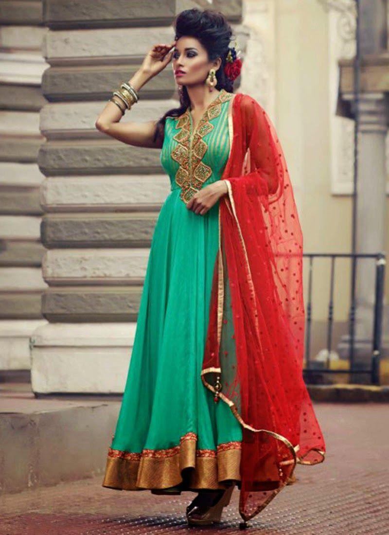 Stylish white dress wedding umbrella frocks churidar designs - Stylish Indian Long Frocks Suit Designs Indian Long Frocks Designs Is Our Topic For Discu