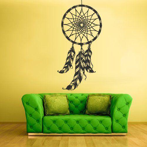 Wall Decal Bedroom Sticker Decals Dream Catcher Dreamcatcher Feather z1410 StickersForLife http://www.amazon.com/dp/B00ECA1X1Y/ref=cm_sw_r_pi_dp_-pSevb1RQDQBC