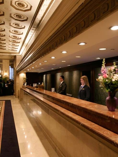 Charmant Front Desk, Roosevelt Hotel NYC.