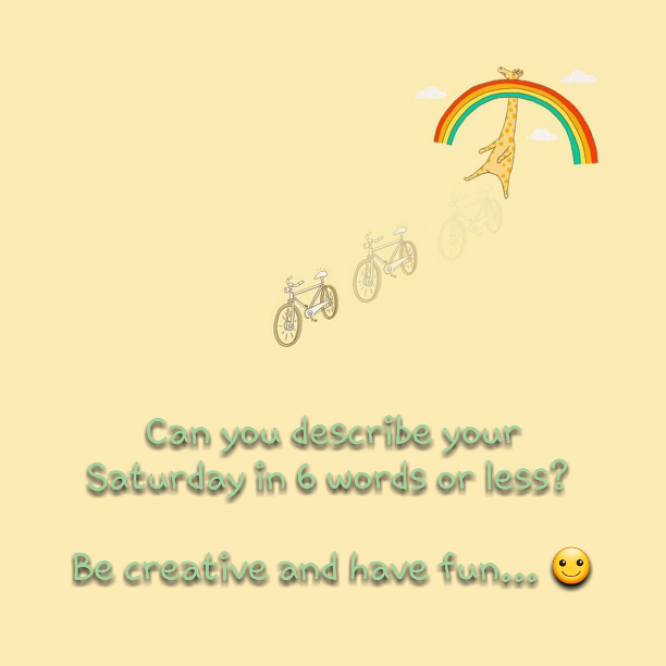 """""""Tell me about your Saturday in 6 words or less""""   Can you describe your Saturday in 6 words or less?     http://www.lostandtired.com/2014/12/20/tell-me-about-your-saturday-in-6-words-or-less/  #Autism #Family #SPD #SpecialNeedsParenting"""