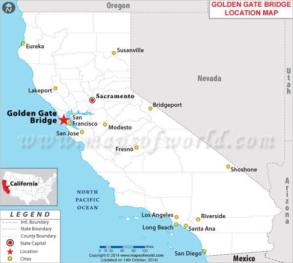 Golden Gate Bridge In San Francisco California Golden Gate - Usa map san francisco