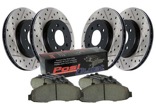 Ceramic Brake Pads For Mitsubishi Lancer Front OE Calipers D//S Brake Rotors