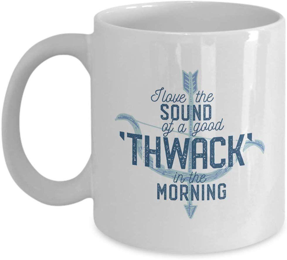 Archery mug present i love the sound of a good thwack