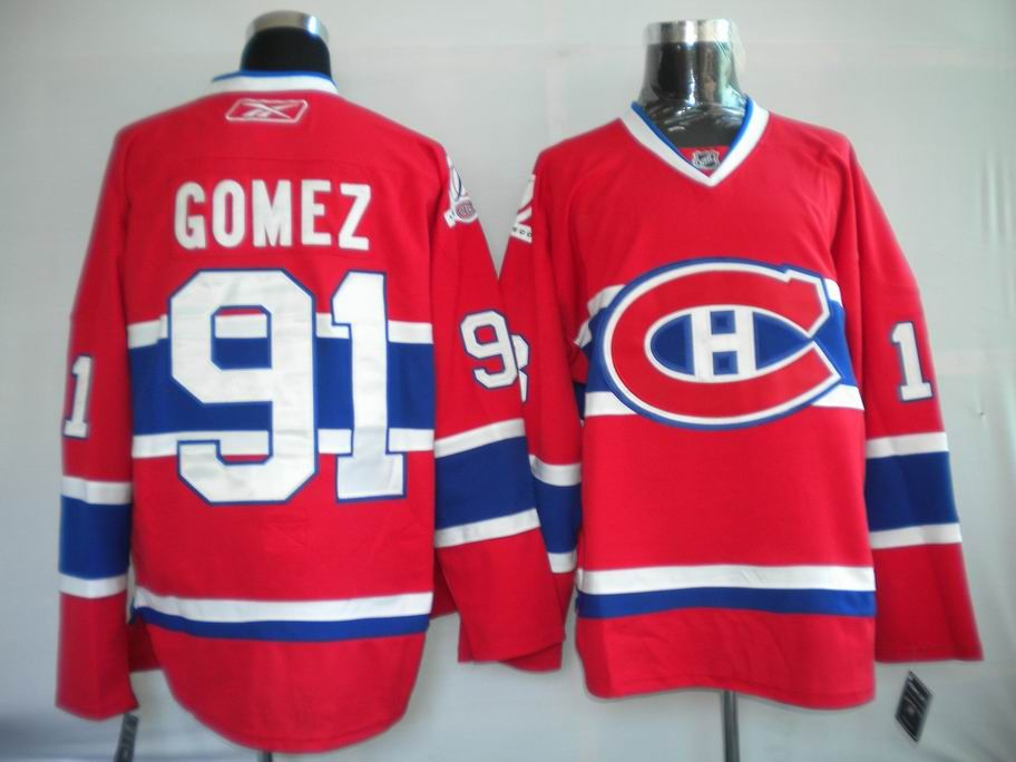 NHL Jerseys Montreal Canadiens Scott Gomez #91 Red