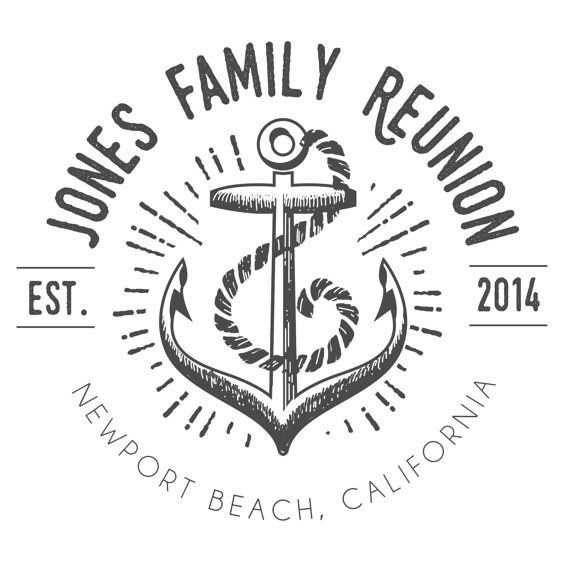 Anchor Family Reunion T-Shirt Logo DIGITAL FILE by BAJDESIGNS ...