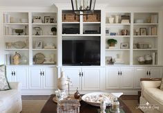 Photo of How to Style Book Shelves and My Re-styled Family Room Built-ins