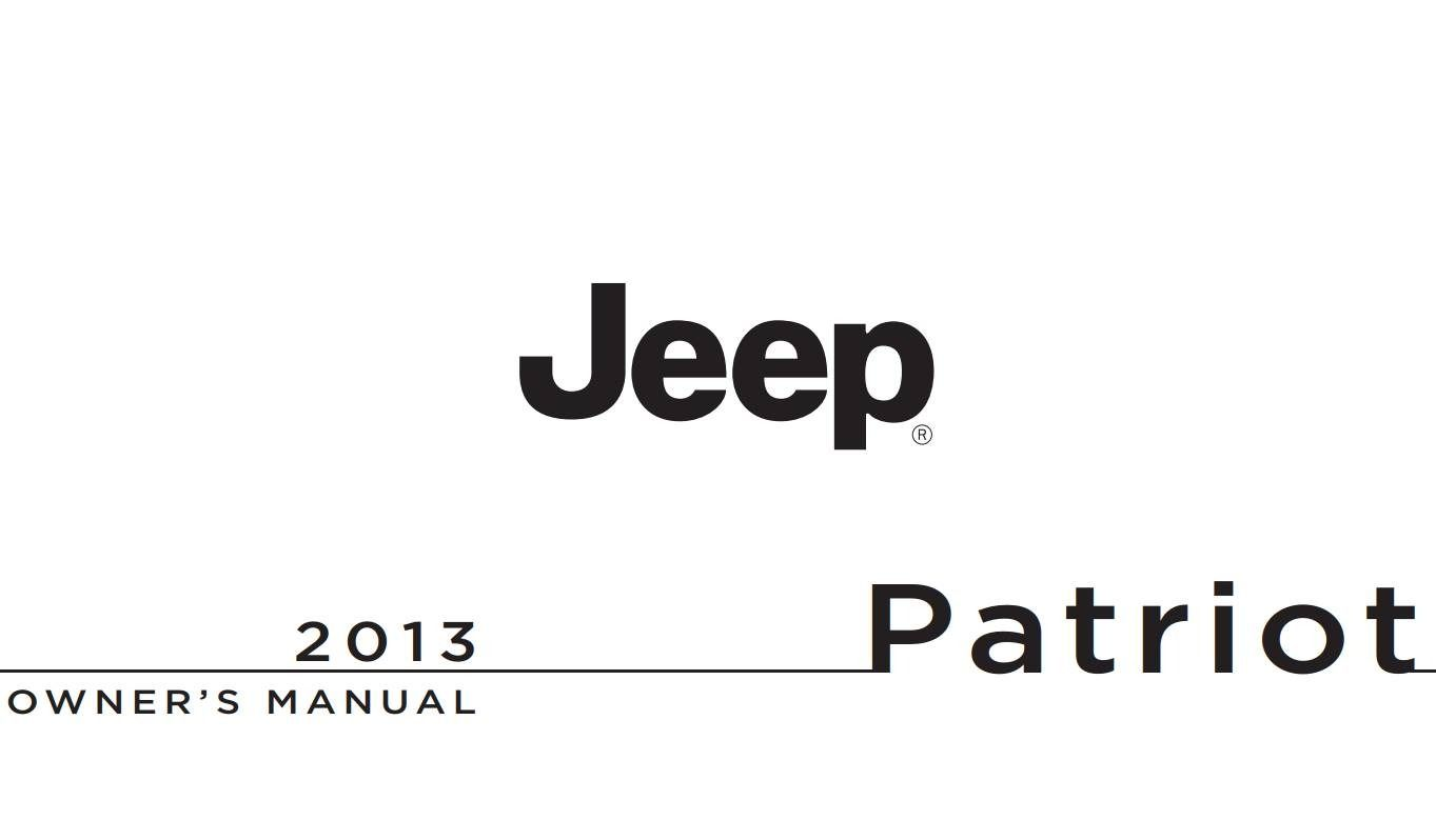 Jeep Patriot 2013 Owner's Manual has been published on