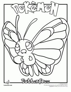 Butterfree Pokemon Coloring Page - pokemony -kolorowanki ...