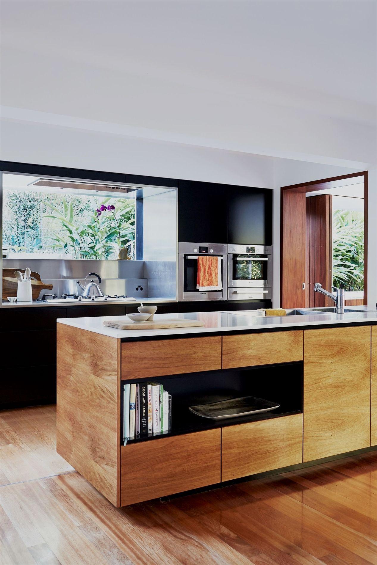A Japanese Inspired Home That Is Distinctly Australian Interior Design Kitchen Timber Kitchen Kitchen Interior