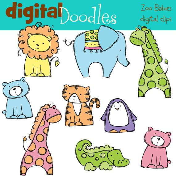 KPM baby zoo animals digital clipart | Zoo animals, Baby zoo and ...
