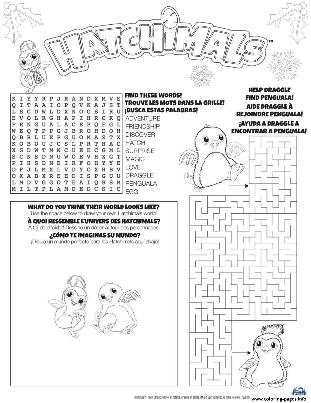 Hatchimals Coloring Pages Birthday Coloring Pages Penguin