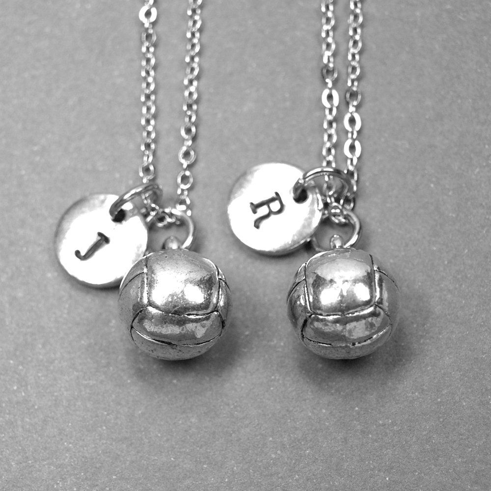 Best Friend Necklace Volleyball Necklace Volleyball Charm Volleyball Jewelry Best Friend Jewelry Ini In 2020 Best Friend Necklaces Friend Jewelry Friend Necklaces