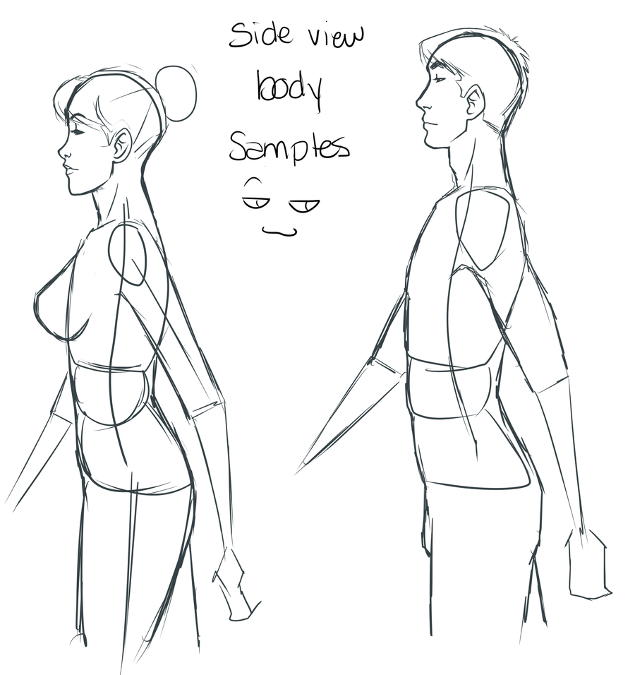 Tutorial Side View Body By Val4s San On Deviantart Drawing Poses Male Male Body Drawing Side View Drawing