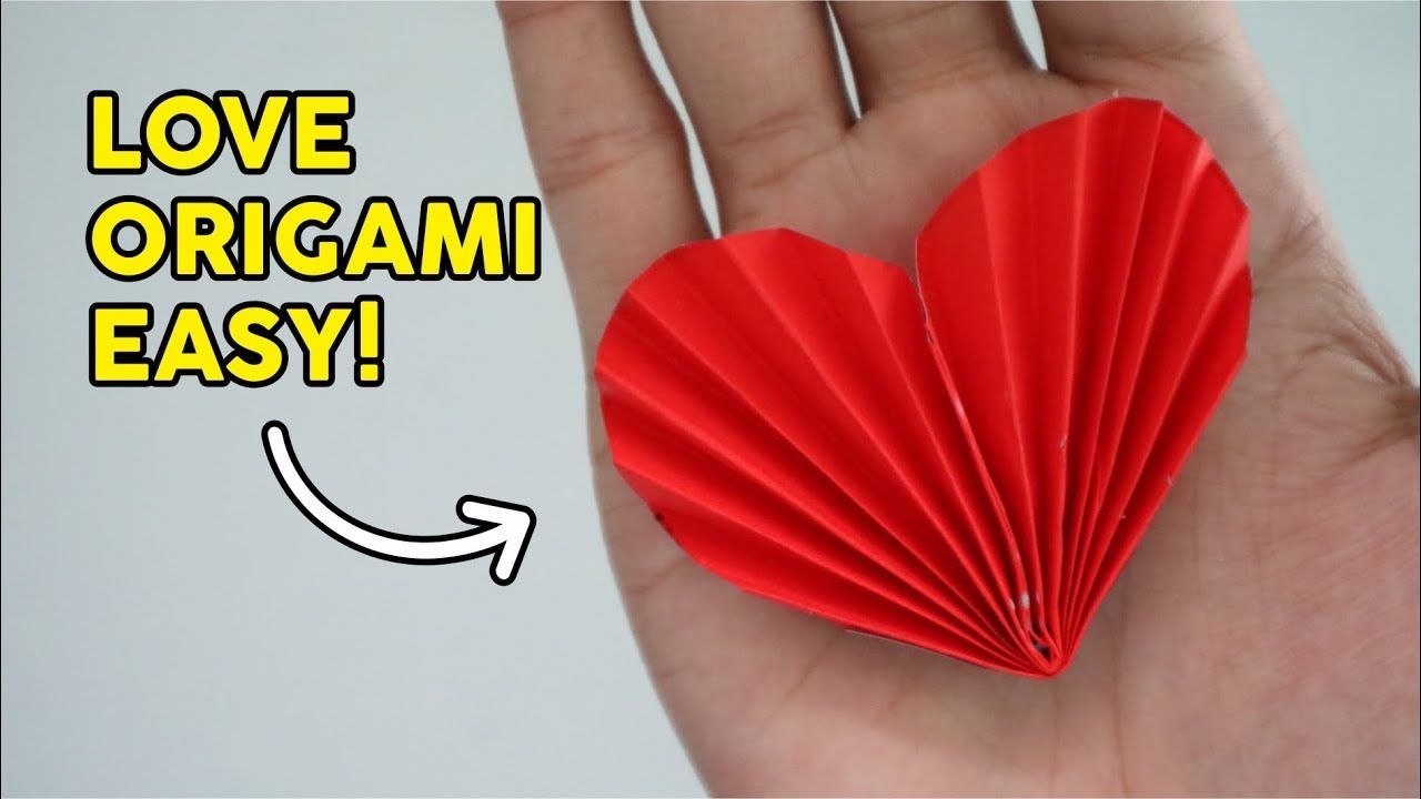 How To Make Love Origami Cara Membuat Hati Dari Kertas Easy Tutorial Origami Kertas