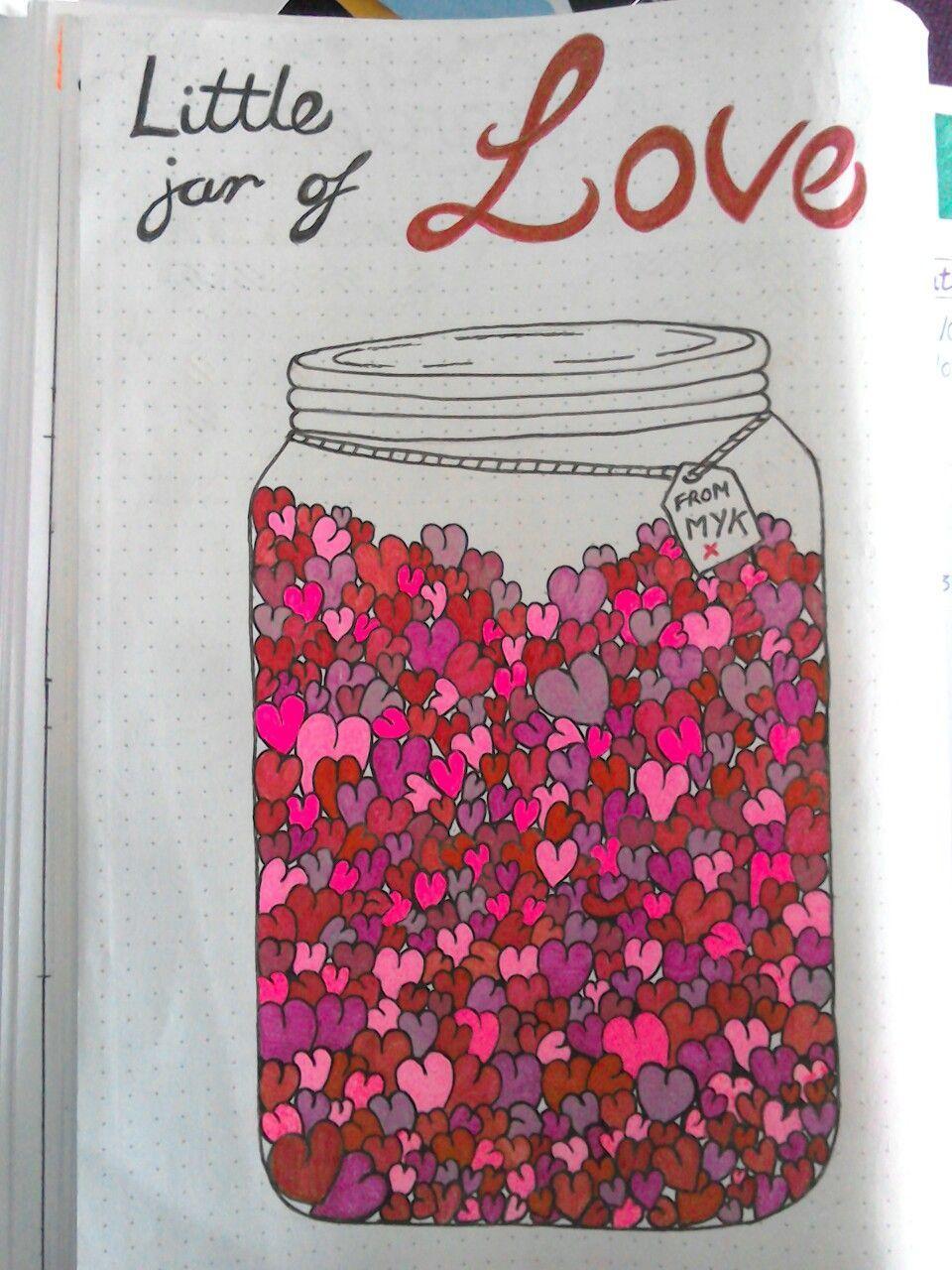 Bullet journal  This is my bujo jar of love for July Every time my boyfriend s Bullet journal  This is my bujo jar of love for July Every time my boyfriend s