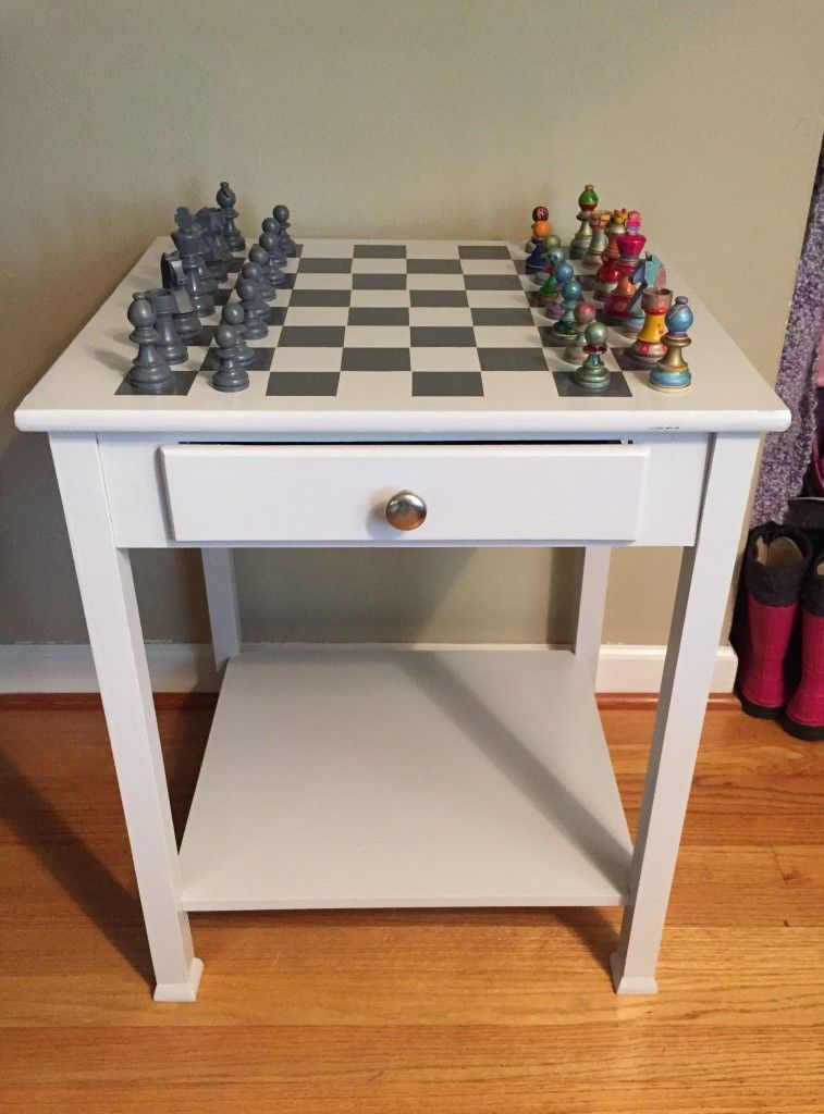 End Table To Chess Table Guiding A Friend S Project Diy