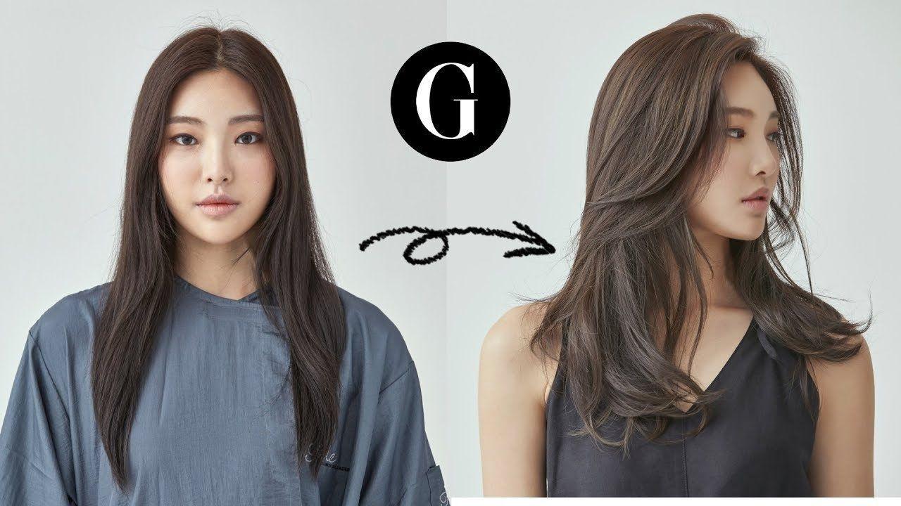 그라피tv 긴머리 가볍게 커트하기 Asian Hairstyle Korean Woman S Long Layered Haircut Youtube 344103227781067042 Korean Long Hair Asian Hair Asian Long Hair