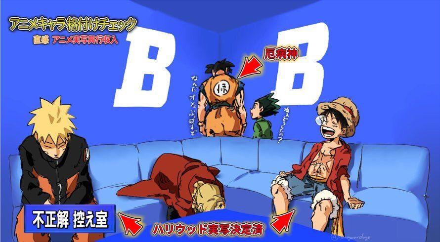 いまむー on twitter 自分の好きなキャラで格付けチェックパロしたかった anime crossover anime funny anime memes