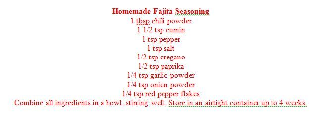 Homemade Fajita Seasoning #homemadefajitaseasoning