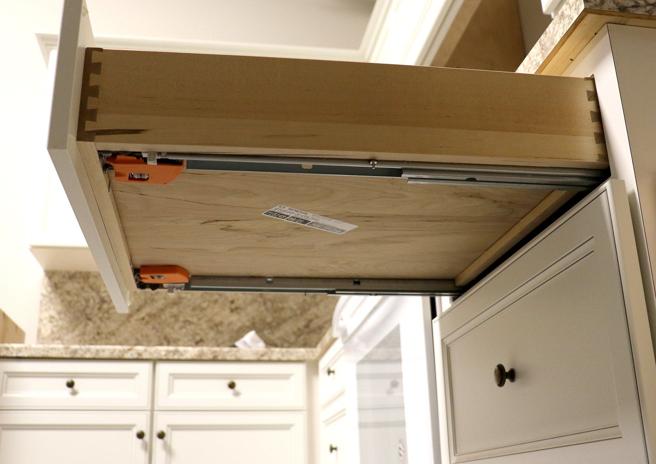 How To Install Blum Undermount Drawer Glides Kitchen Cabinet Remodel Drawers Solid Wood Cabinets