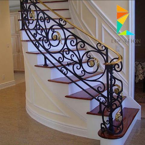 كتالوج صور سلالم داخلية بتصميم مودرن للمنزل العصري Wrought Iron Staircase Wrought Iron Stairs Iron Stair Railing